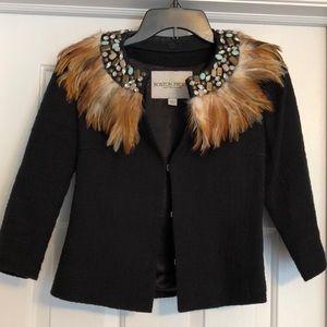 Boston Proper feather collar blazer 🍂